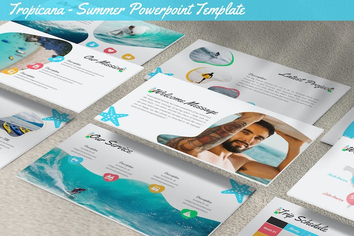 Thumbnail for Tropicana - Summer Powerpoint Template