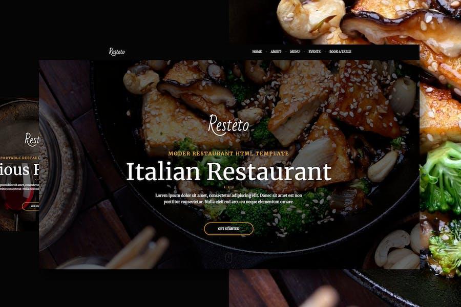 Resteto - One-page Restaurant Premium Template