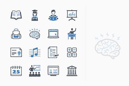 Education Icons Set 2 - Blue Series