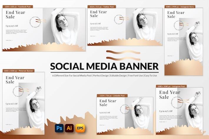 End Year Sale Social Media Banner