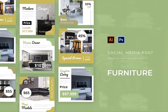 Thumbnail for Furniture Social Media Post
