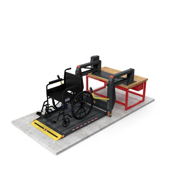 Hydraulic Lift with Wheelchair