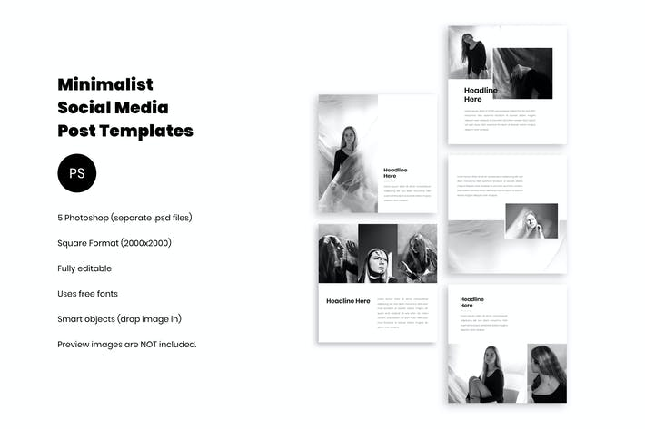 Thumbnail for Minimalist Social Media Kit Vol. 01
