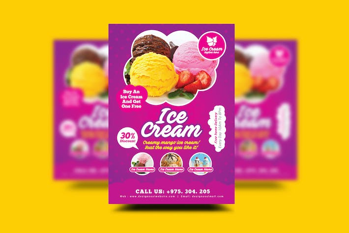 ice cream flyer templates by designsoul14 on envato elements