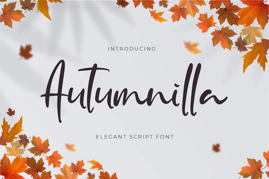 Autumnilla - Elegant Script