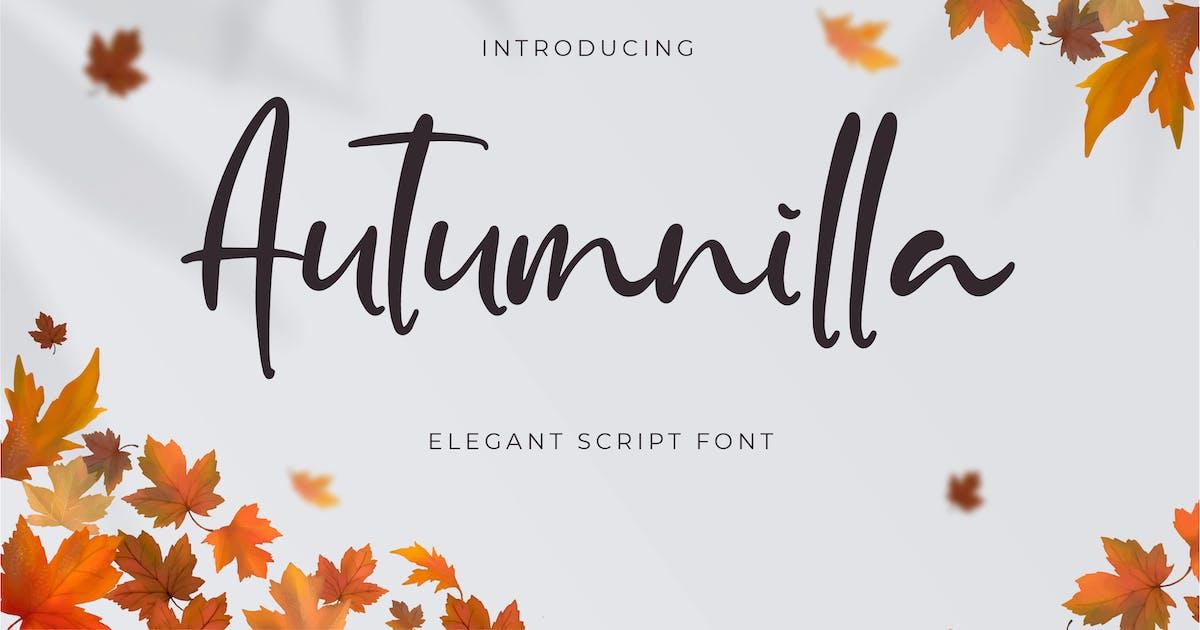 Download Autumnilla - Elegant Script by Alterzone