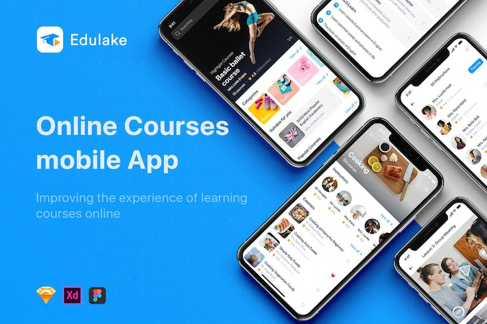 Thumbnail for Edulake - Online Course UI Kit