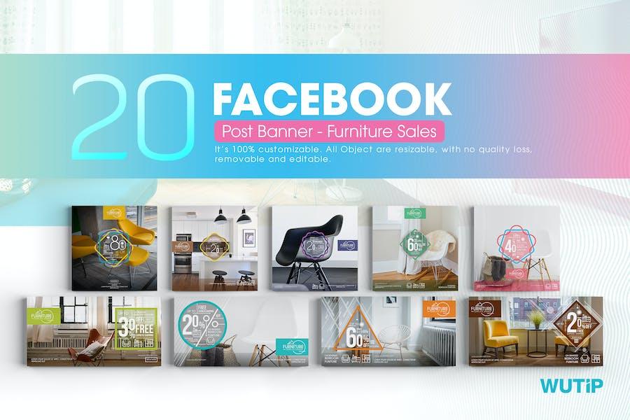 20 Facebook Post Banner - Furniture Sales