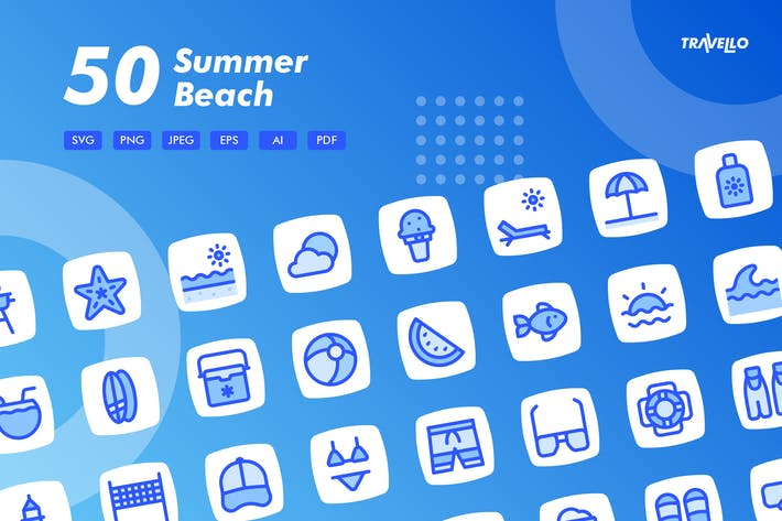 Thumbnail for Travello Sommer Strand Icons