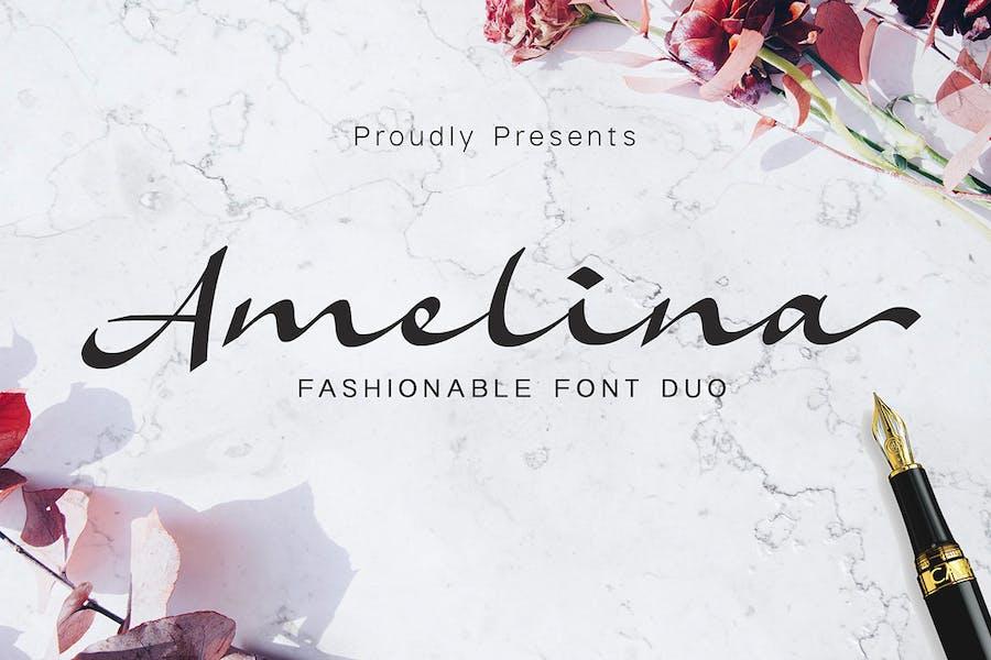 Amelina - Font Duo