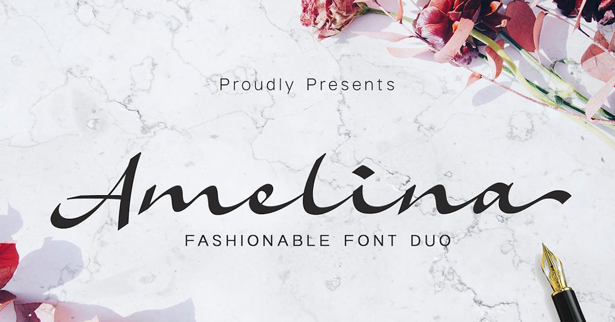 Download Amelina - Font Duo by Ramzehhh