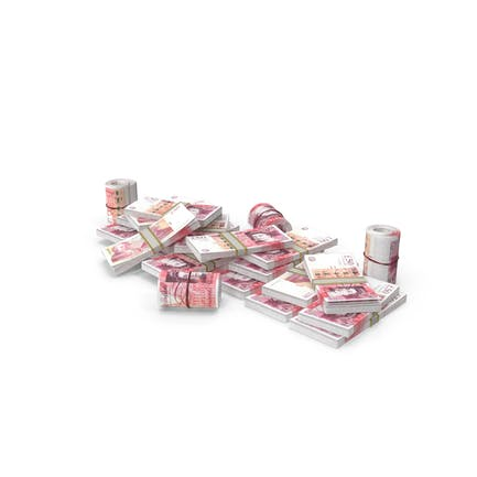 Pile of UK Pound Stacks