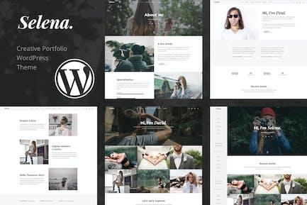Selena. - Portfolio WordPress Theme