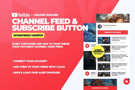Youtube Channel Feeds and Subscribe Box Plugin