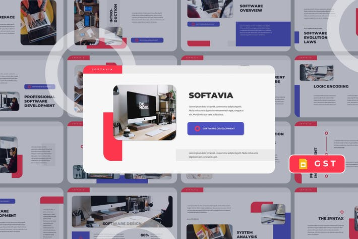 Thumbnail for SOFTAVIA - Software Google Slides Template