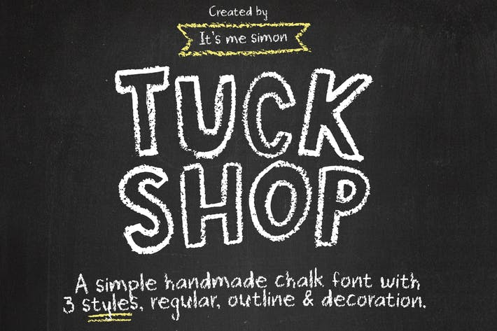 Thumbnail for Tuck Shop font