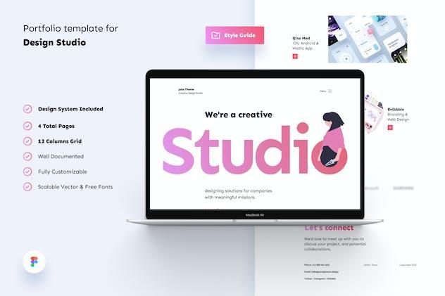 Design Studio Creative Portfolio Template UI Kit