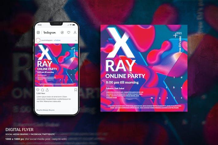 Digitaler Flyer für Instagram-Musik-Veranstaltung