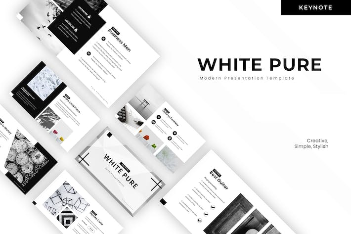 Thumbnail for White Pure - Keynote Template