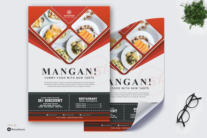 Thumbnail for Mangan - Restaurant Poster HR