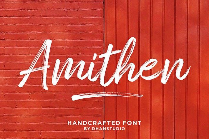 amithen brush font by dhanstudio on envato elements