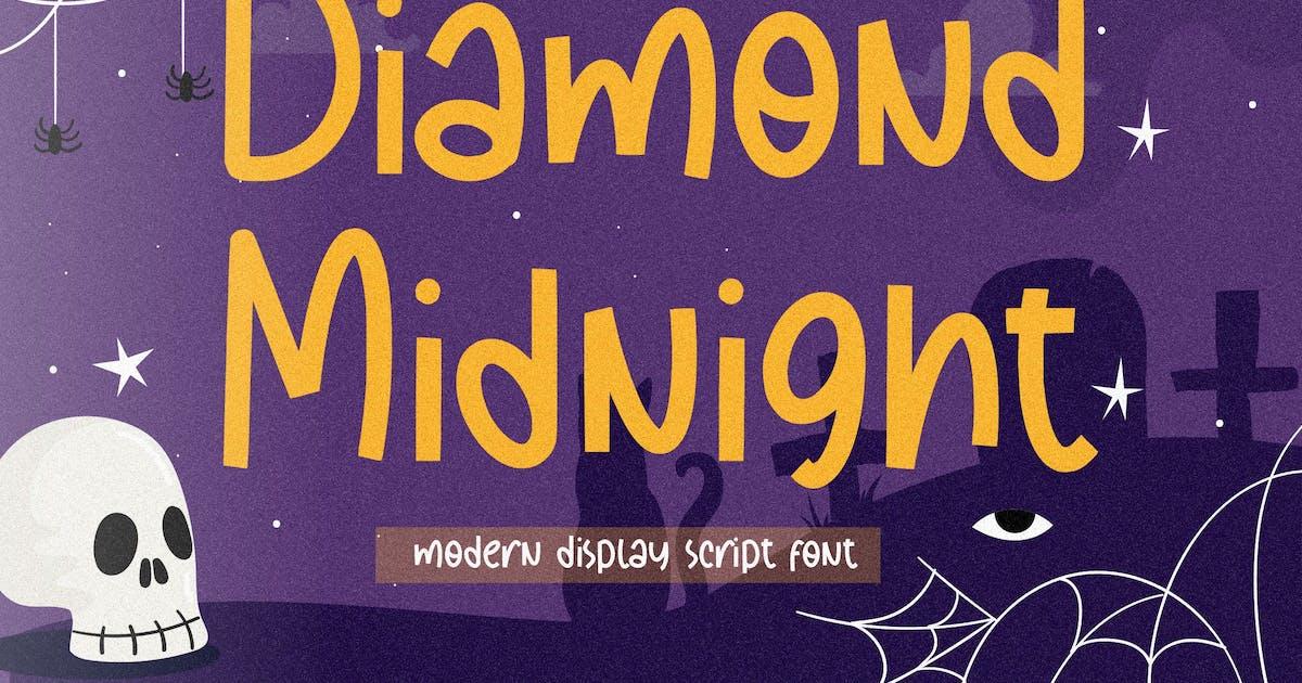 Download Diamond Midnight Display Font YH by GranzCreative