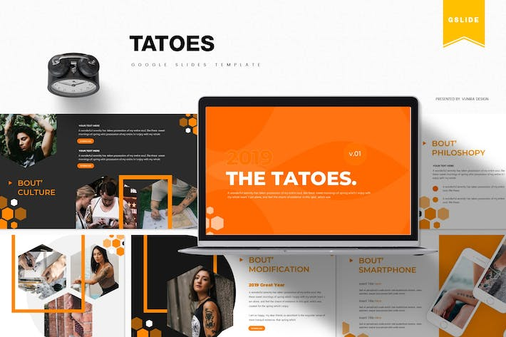 Thumbnail for Tatoes | Google Slides Template