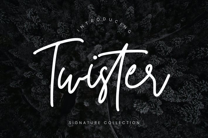 Thumbnail for Twister Handwritten Script