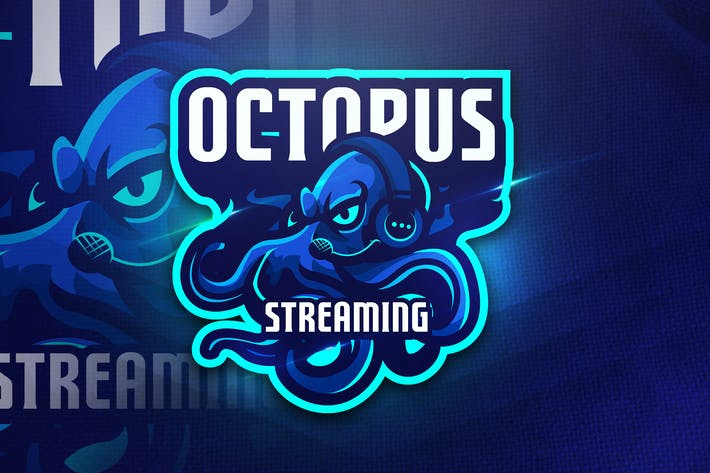 Thumbnail for Octopus Streaming - Mascot & Esport Logo