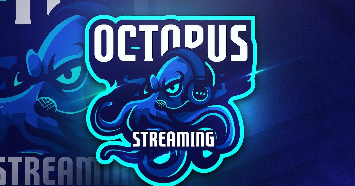 Download Octopus Streaming - Mascot & Esport Logo by aqrstudio