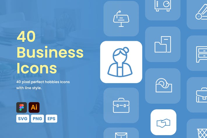 Thumbnail for Business Icon Set