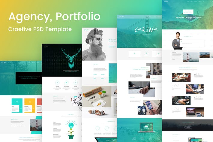 Thumbnail for Carina - Creative Multipurpose PSD Template