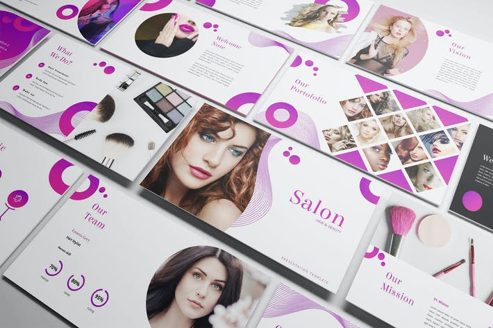 Thumbnail for Salon - Hair & Beauty Keynote Template