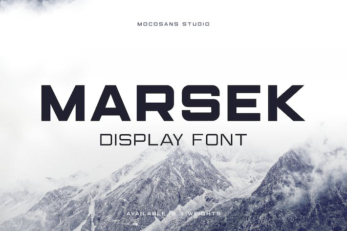 Thumbnail for (NEW) Marsek - A Solid Display Font