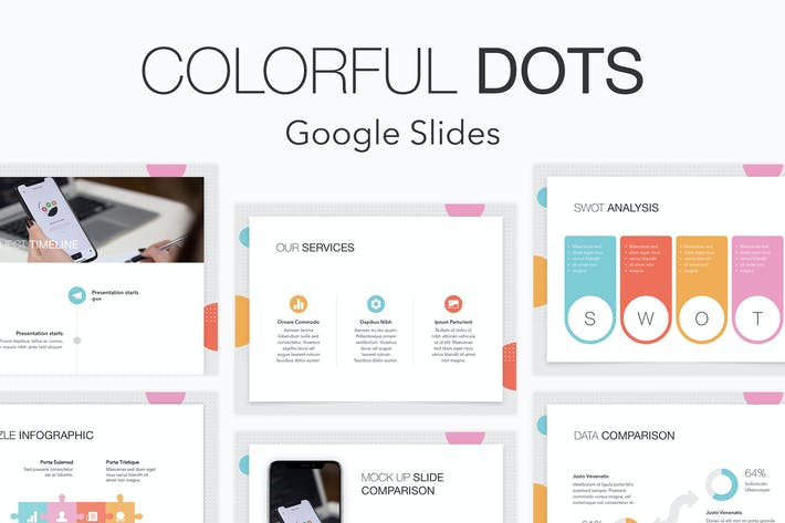 Thumbnail for Colorful Dots Google Slides