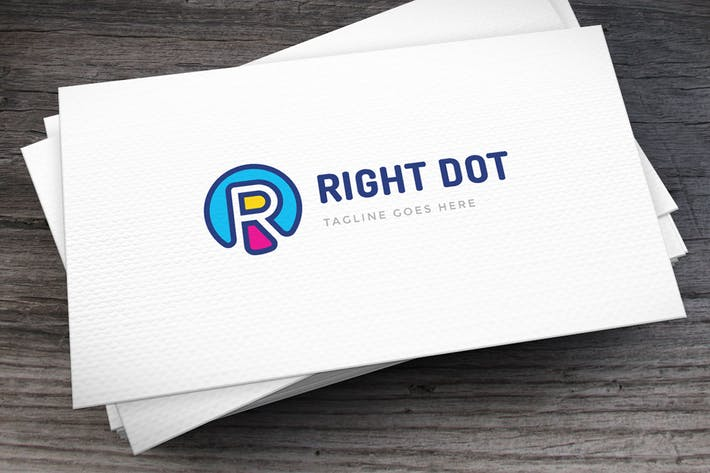 Thumbnail for Right Dot Letter R Logo Template