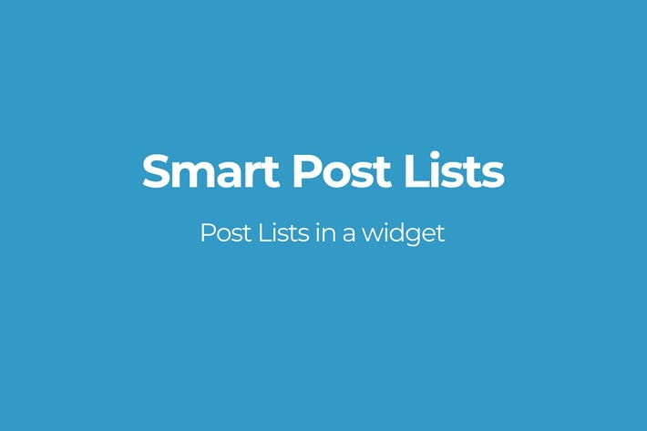 Thumbnail for Smart Post Lists Widget for WordPress