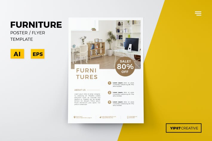 Thumbnail for Simple Furniture Flyer