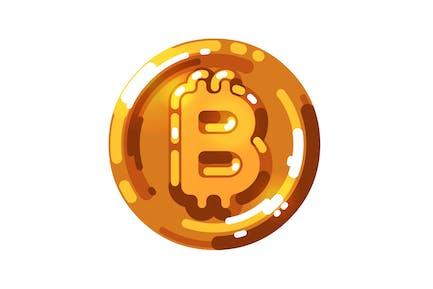 Bitcoin-Logo in leuchtender goldener Farbe