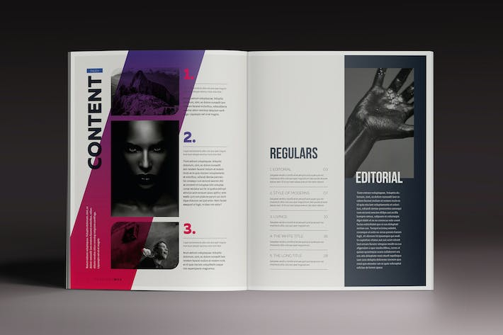 Gradient Magazine Indesign Template by luuqas on Envato Elements