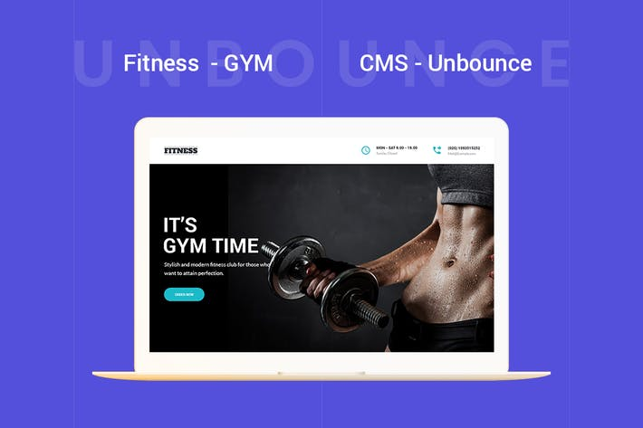 Thumbnail for Fitness - GYM Unbounce Template