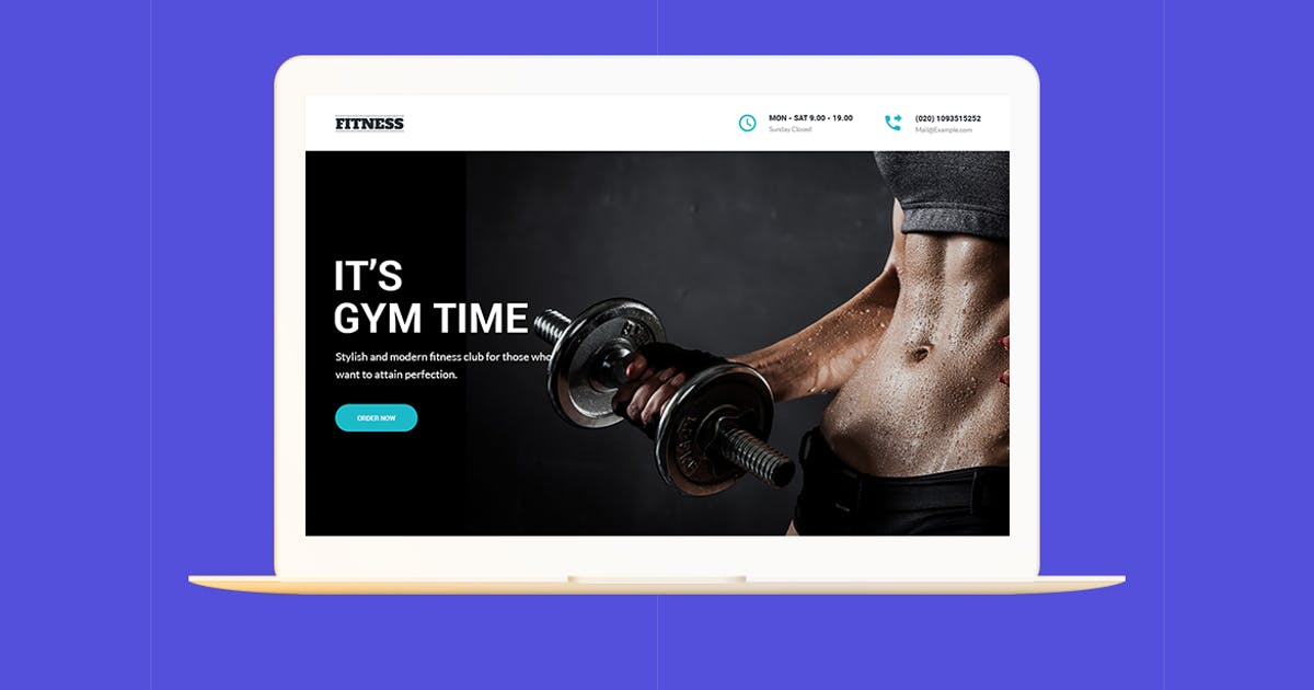 Download Fitness - GYM Unbounce Template by ExplicitConcepts