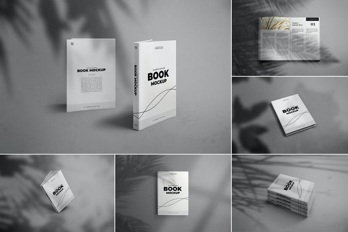Thumbnail for A5 Modern and Minimal Hardcover Book Mockups