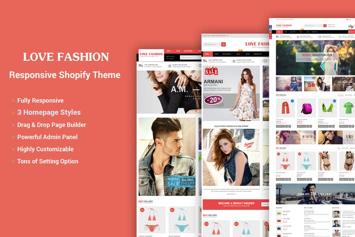 Thumbnail for LoveFashion - Drag & Drop Builder Shopify Theme