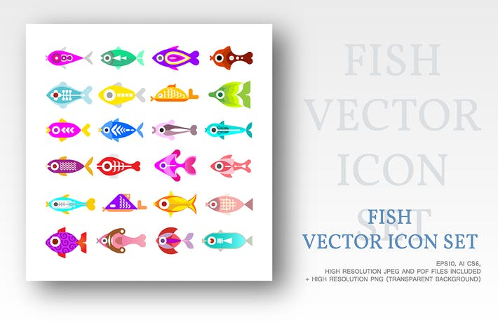Thumbnail for Aquarienfische Vektor-Icons