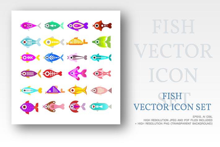 Thumbnail for Aquarium Fish Vector Icons
