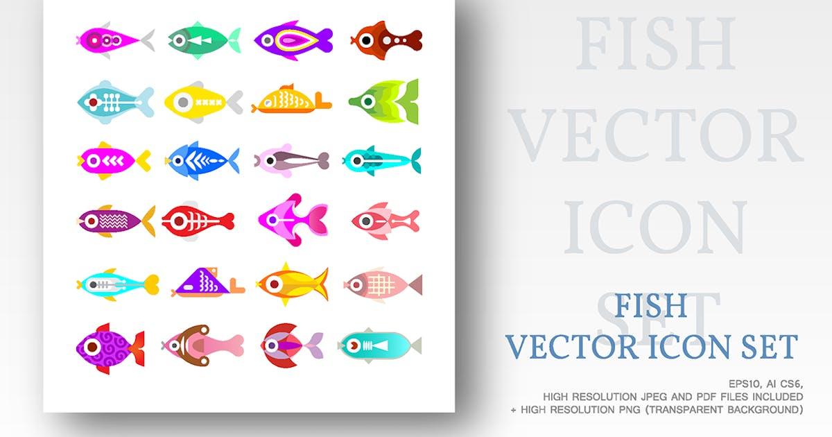 Download Aquarium Fish Vector Icons by danjazzia