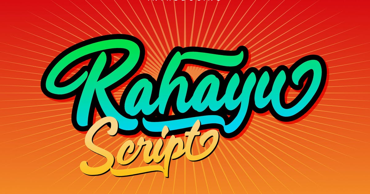 Download Rahayu - Script Font by Rometheme