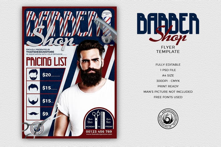 Thumbnail for Barber Shop Flyer Template