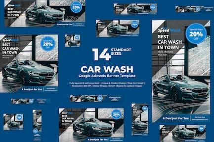 Car Wash Google Adwords Banner Template